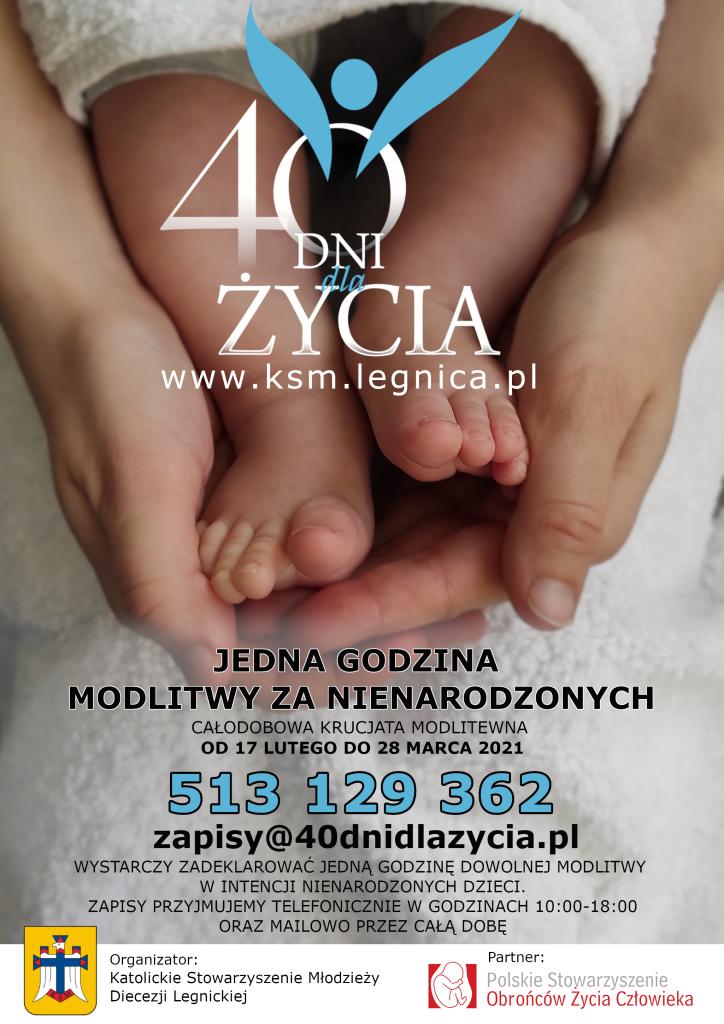Plakat 40 Dni dla Życia 2021